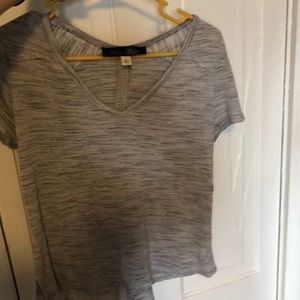 Francesca's grey T-shirt